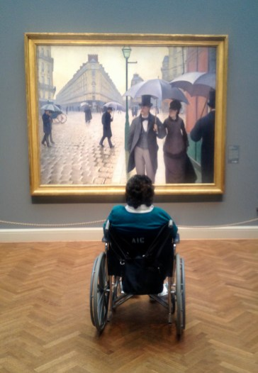 "Gustave Caillebotte, ""Paris Street, Rainy Day."" Photo Credit Yvette Gellis."