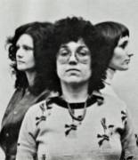 1972, Historic Woman's Building Founders. Judy Chicago, Sheila de Bretteville and Arlene Raven. Animating the Archives: The Woman's Building. Avenue 50 Studios, Highland Park. Photo Courtesy of the Artist.