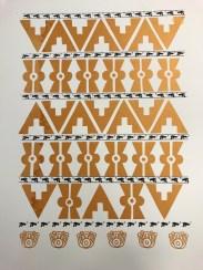 ICONIC: Black Panther. Gregorio Escalante Gallery, Los Angeles, CA. Dewey Tafoya Continual Movement 2017 Serigraph . Photo Courtesy of Sepia Collective and The Artist.