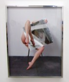 Heather Rasmussen - Untitled (Study in the studio with mirror and slippers). ACME Gallery. Photo Credit Patrick Quinn.