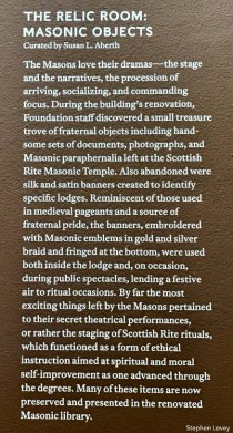The Relic Room. Masonic Objects. The Marciano Art Foundation. Photo Credit Stephen Levey.