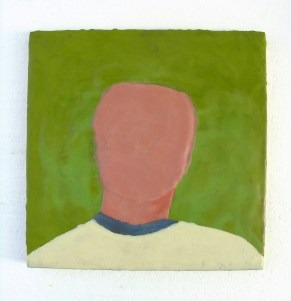 """Anonymous encaustic on wood 12"""" x 12"""" 2014. Don Procella. Everything Must Go. Noysky Projects. Photo Courtesy of Noysky Projects."""