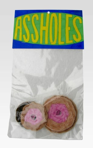 "Assholes (Series 1-5) pipe cleaners 13"" x 7"" x 3"" 2016. Don Procella. Everything Must Go. Noysky Projects. Photo Courtesy of Noysky Projects."