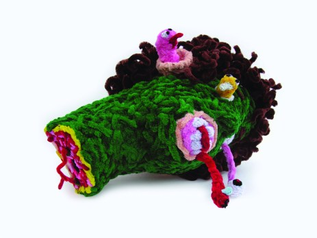 """Earth Monster pipe cleaners 14"""" x 10"""" x 10"""" 2008. Don Procella. Everything Must Go. Noysky Projects. Photo Courtesy of Noysky Projects."""