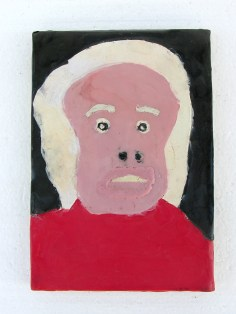 """Fat Lip encaustic on wood 5"""" x 8"""" 2008. Don Procella. Everything Must Go. Noysky Projects. Photo Courtesy of Noysky Projects."""