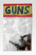 """Guns pipe cleaners 9"""" x 6"""" x 3"""" 2006. Don Procella. Everything Must Go. Noysky Projects. Photo Courtesy of Noysky Projects."""