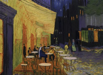 Arles Café Terrace at Night. Photo Courtesy of the Loving Vincent Production Team.