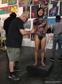 Artist Pashur model Ruby Lee. Chocolate And Art Show Los Angeles - August 18 - 19. Photo credit Stephen Levey