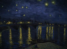 Landscape Starry Night over the Rhone. Photo Courtesy of the Loving Vincent Production Team.