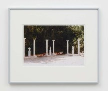 """William E. Jones """"Villa Iolas (Antiquities, Columns),"""" 1982/2017 hand-coated inkjet print 16 x 20 inches (40.6 x 50.8 cm) framed: 20 x 24 x 1 1/4 inches (50.8 x 61 x 3.2 cm) Edition of 6 with 2 AP Photography: Lee Thompson Courtesy of David Kordansky Gallery, Los Angeles, CA and The Modern Institute, Glasgow, Scotland"""