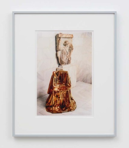 """William E. Jones """"Villa Iolas (Marina Karella, Greek Sculpture),"""" 1982/2017 hand-coated inkjet print 20 x 16 inches (50.8 x 40.6 cm) framed: 24 x 20 x 1 1/2 inches (61 x 50.8 x 3.8 cm) Edition of 6 with 2 AP Photography: Lee Thompson Courtesy of David Kordansky Gallery, Los Angeles, CA and The Modern Institute, Glasgow, Scotland"""