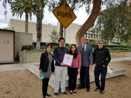 Scott Froschauer. Word on the Street, Unveiling. Glendale California. Photo Credit Kristine Schomaker