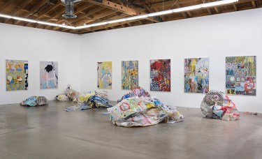 "Kim Dingle ""CRUSH,"" Installation View. Susanne Vielmetter Los Angeles Projects. Photo credit: Robert Wedemeyer."