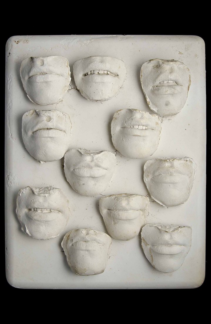 Radical Women: Latin American Art, 1960-1985, Hammer Museum, Los Angeles. Amelia Toledo (Brazilian, b. 1926), Sorriso do menina (Girl's smile), 1976. Mold in plaster. 16 9/16 × 13 × 3 1/8 in. (42 × 33 × 8 cm). Collection of Fernando and Camila Abdalla. ©the artist.