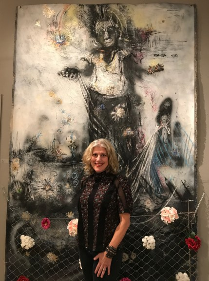 Randi Matushevitz at Huz Gallery. Photo Credit: Genie Davis.