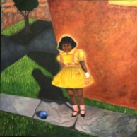 Patssi Valdez in One Path, Two Journeys at Millard Sheets Art Center. Photo Credit: Mario Vasquez.