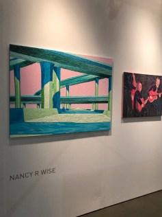 Nancy Wise. LA Art Show 2018. LA Convention Center. Photo Credit Genie Davis