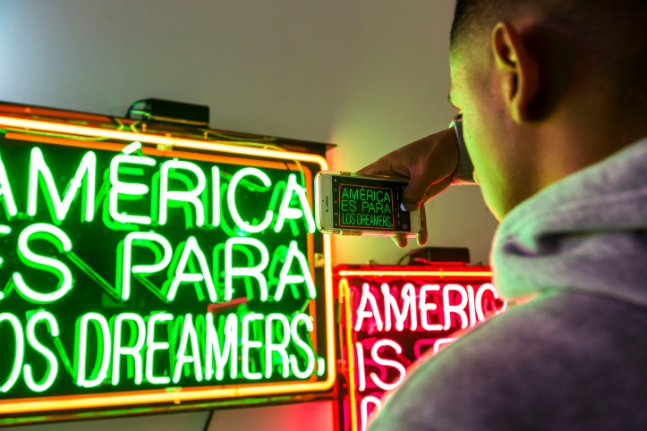 Patrick Martinez: America Is For Dreamers at Vincent Price Museum; Photo by Monica Orozco; Image courtesy of the museum