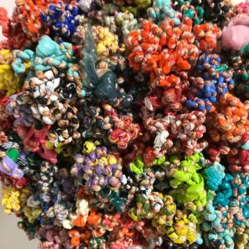 Mariana Nelson in Salvage at Art Exchange Exhibition Space; Photo credit Genie Davis