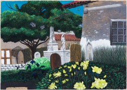 Cole Case, Mission Dolores Cemetery 5.1.17, Pastel on paper, 19×27 inches. Photo Courtesy of the artist.