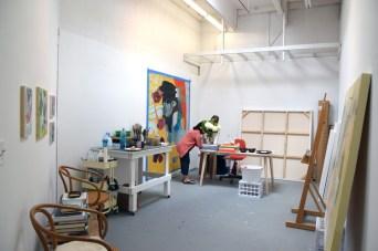 Diane Dillingham at CGU Open Studios. Photo credit: Kristine Schomaker.