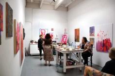 Kathleen Fox at CGU Open Studios. Photo credit: Kristine Schomaker.