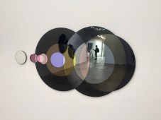 Olafur Eliasson, The speed of your attention, 2018, silvered colored glass, mirror glass, aluminum at Tanya Bonakdar Gallery. Photo credit: Shana Nys Dambrot