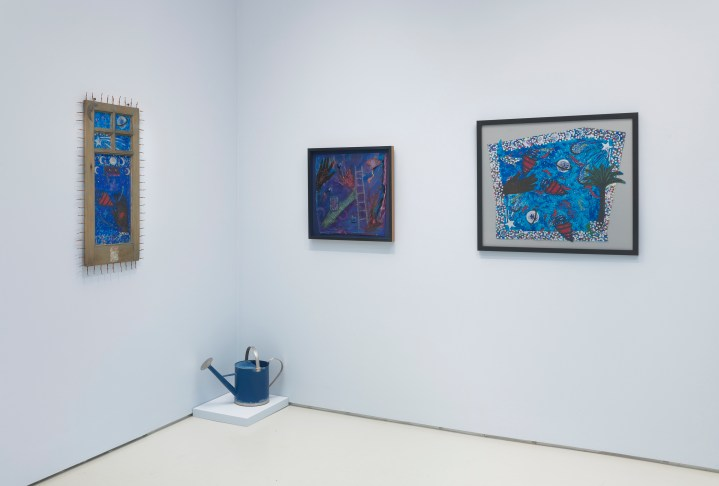 Betye Saar. Something Blue at Roberts Projects. Photo courtesy of the artist and Roberts Projects