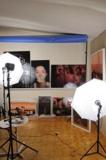 Studio Visit: Mei Xian Qiu. Photo credit: Gary Brewer.