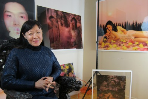 Studio Visit: Mei Xian Qiu. Photo credit: Gary Brewer.