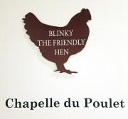 Chapelle du Poulet, Blinky the Friendly Hen, CSUN Art Gallery; Photo Credit: Kristine Schomaker