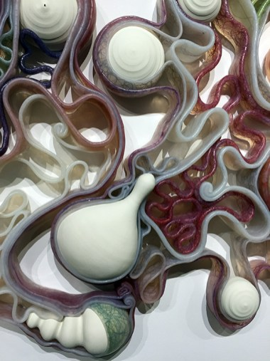 Alison Ragguette, Cross Section Ellipse (detail), Combobulation, V Gallery; Photo credit: Lorraine Heitzman