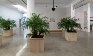 Michael Rakowitz: Dispute Between the Tamarisk and the Date Palm (2019). Installation view at REDCAT, Los Angeles; Photo credit: Brica Wilcox