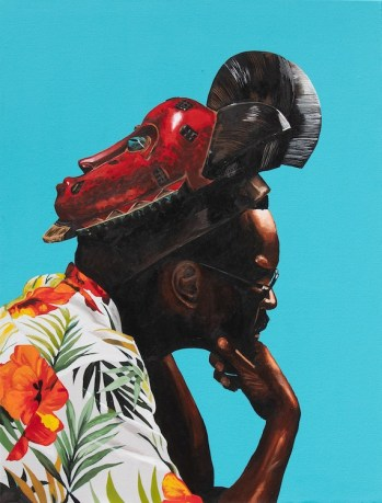 Dr. Fahamu Pecou, Don't Think I'm Not (aka the King in I), Trapademia, Kopeikin Gallery; Image courtesy of the gallery