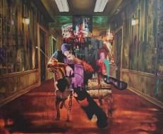 Justin Bower, LA Painting, MOAH; Photo credit Kristine Schomaker