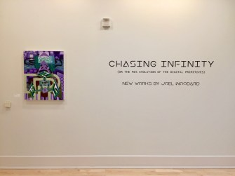 Joel Woodard, Chasing Infinity (or the Mis-Evolution of the Digital Primitive), Founders Hall Art Gallery, Soka University; Photo credit Tony Pinto