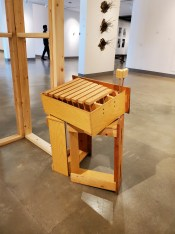 Hilary Norcliffe, Drawer-o-phone, St. Broxville Wood: Into the Thicket, Kellogg University Art Gallery; Photo credit Sydney Walters