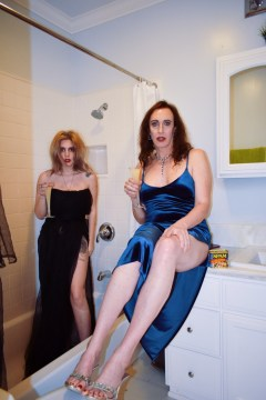 Tarrah von Lintel & Ashley Hepburn, We hadn't spent much time in the guest bathroom. We changed that; Image courtesy of Tarrah von Lintel