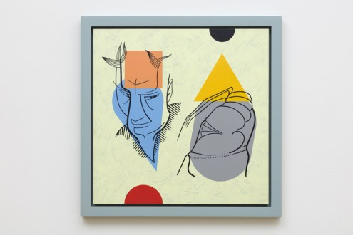 Don Suggs, The Same Clay, Face-Off, L.A. Louver; Image courtesy of the gallery