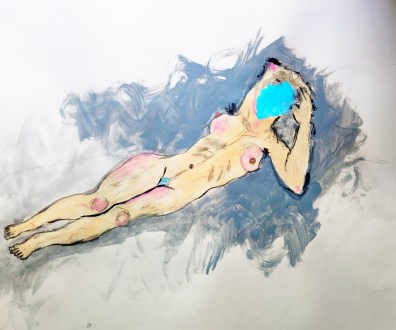 Eve Wood, The Nude Maja; Image courtesy of the artist