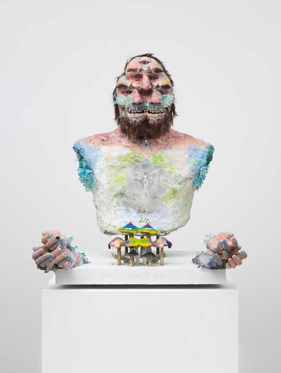 David Altmejd, The Troll, 2021, The Enlightenment of the Witch, David Kordansky Gallery; Photo credit Lee Thompson Courtesy of David Kordansky Gallery