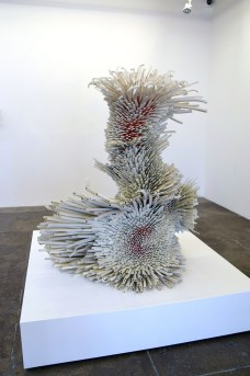 Work by Zemer Peled at Mark Moore Gallery, Photo Credit: Kristine Schomaker