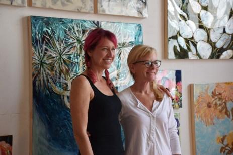 Daphne Hill and Anna Stump. Brewery Artwalk 2016