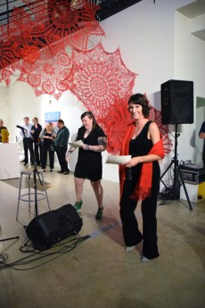 Ginger Shulick Porcella and Terry Arena. 2016 Southern California/Baja Biennialat San Diego Art InstitutePhoto Credit Kristine Schomaker