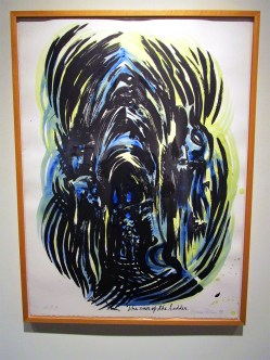 Raymond Pettibon / 'Untitled (Cathedral: The Run of the Ladder)'. Photo Credit Patrick Quinn