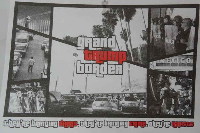 Transit Republic. Print by Tijuana based artists Ingrid Hernandez. Photo Courtesy of Kio Griffith.