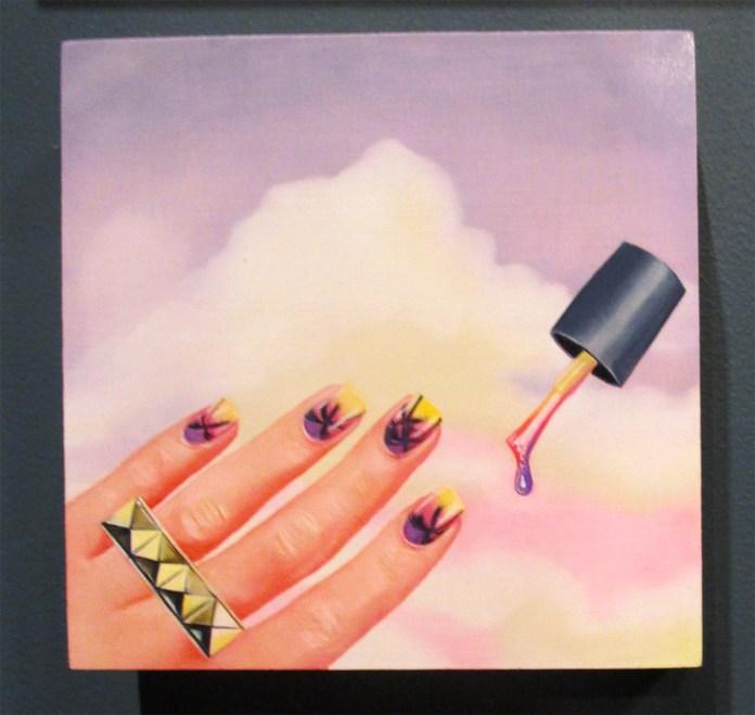 Tasha Kusama. Mood (Nail Painting Emoji). Girl Crush at The Good Eye Gallery. Photo Courtesy of Patrick Quinn.