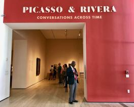 Pablo Picasso and Diego Rivera. Los Angeles County Museum of Art. Photo Credit Stephen Levey.