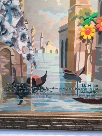 Alexis Smith. Detail of Venetian Villa, 2016. On Point. Craig Krull Gallery. Photo Credit Amy Kaeser.