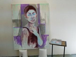 Jennifer King. Claremont Graduate University MFA Open Studios. Photo Credit Jacqueline Bell Johnson.